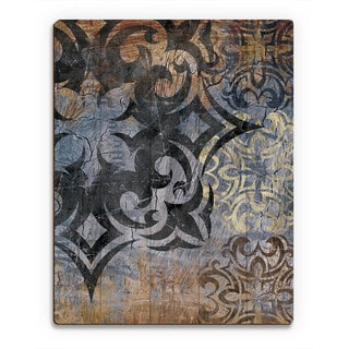 Grunge Snowflake' Wooden and Slate Wall Art