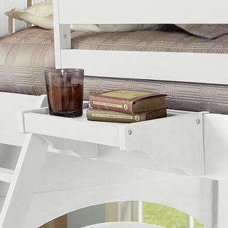 NE Kids Lake House White Wood Hanging Nightstand