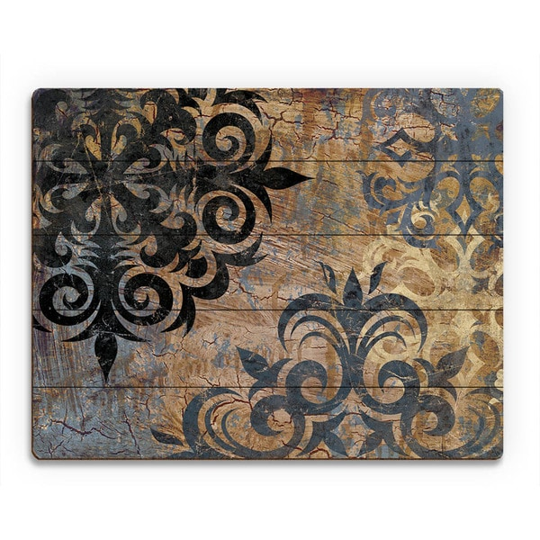 Industrial Snowflake' Gray Wood Wall Art