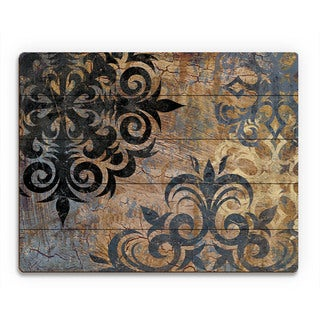 Industrial Snowflake' Gray Wood Wall Art