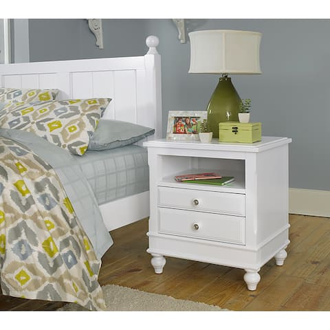 Lake House White Wood Night Stand