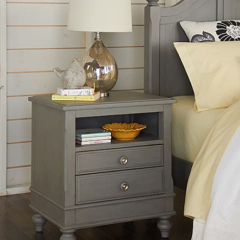 NE Kids Lake House Stone Grey Wood Nightstand