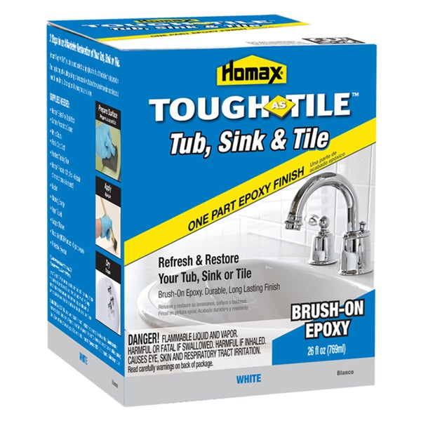 Homax 720773 26 Oz White Brush On Tub Amp Sink One Part