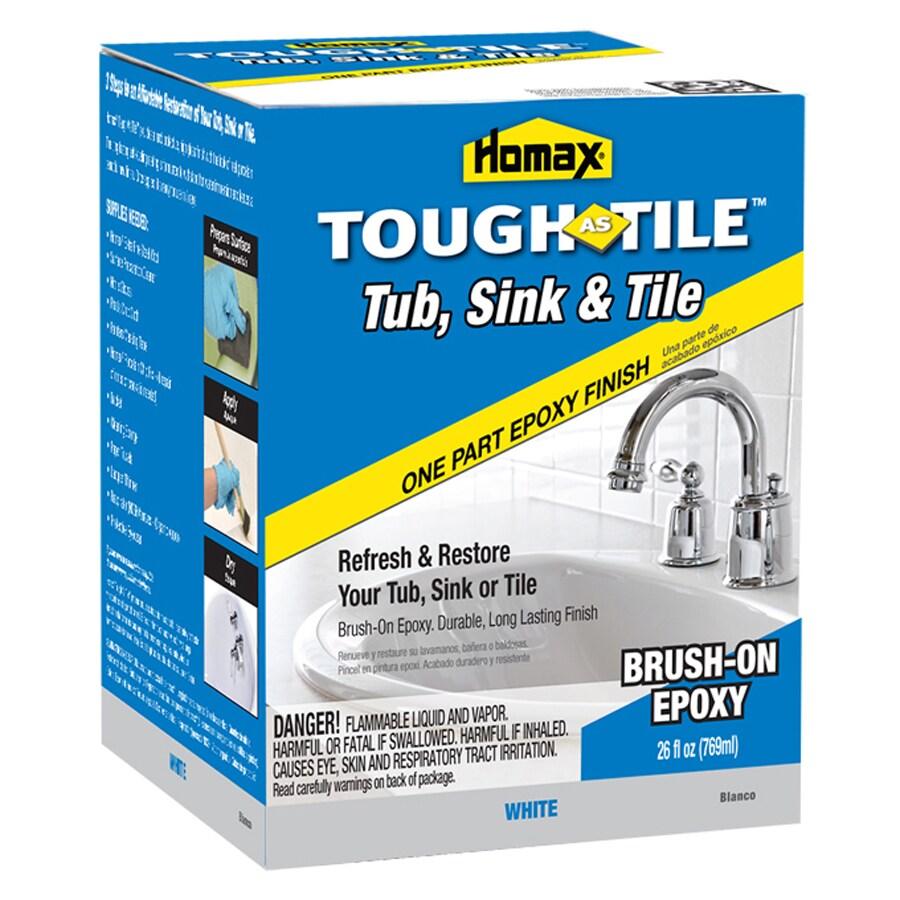 Homax 720773 26 Oz White Brush On Tub & Sink One Part Epo...