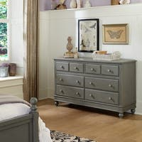 Lake House Stone Grey 8-drawer Dresser