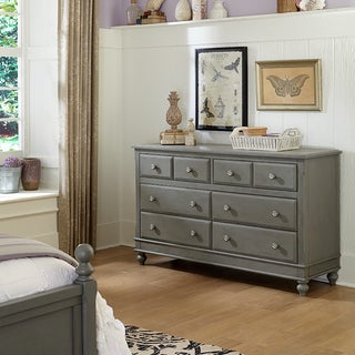 Lake House Stone Grey 8-drawer Dresser