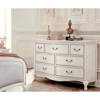 Kensignton Antique White 7-drawer Double Dresser