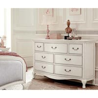Kensignton Antique White 7-drawer Double Dresser