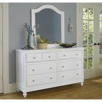 Lake House White 8-drawer Dresser and Mirror