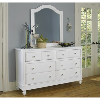 Lake House White 8-drawer Dresser and Mirror