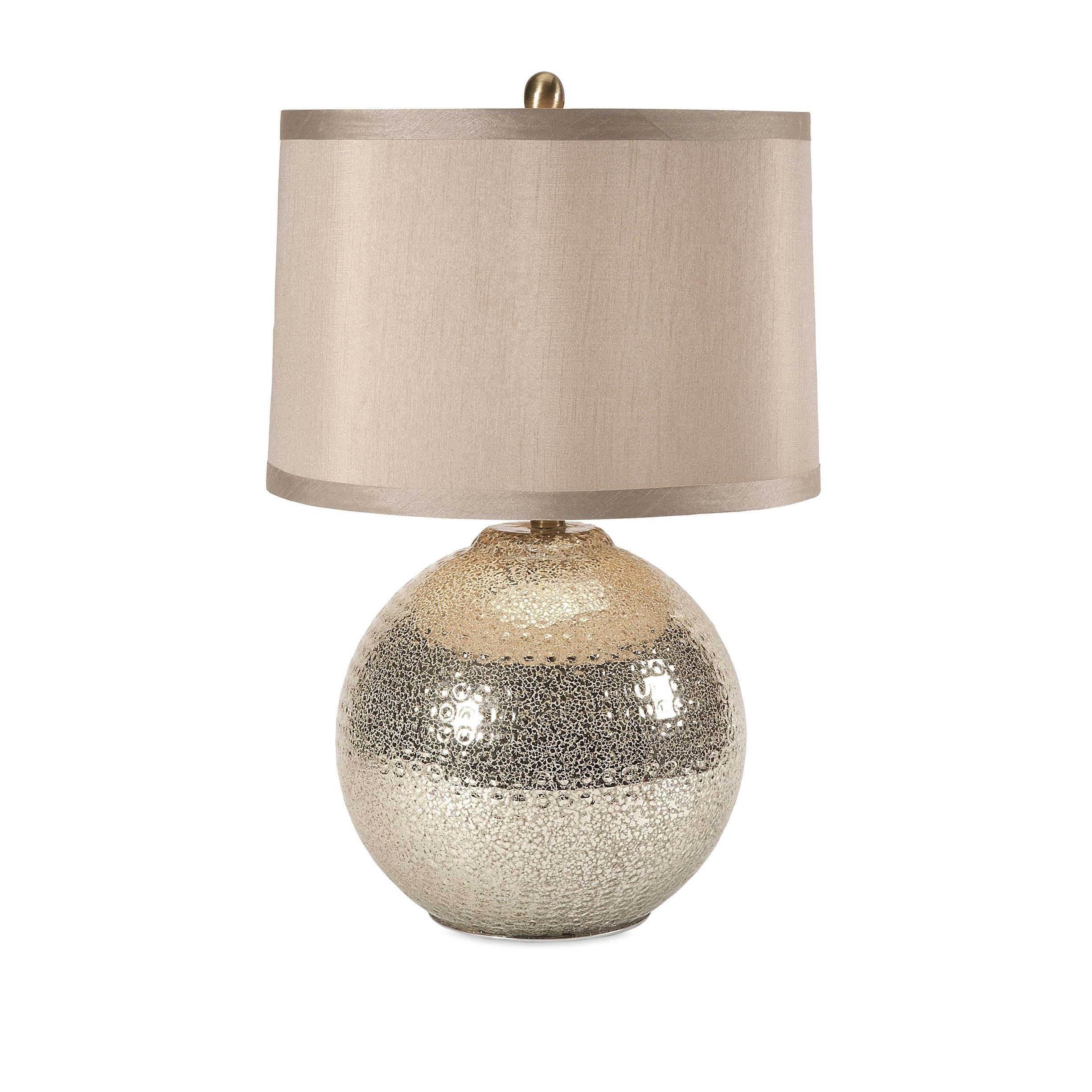 IMAX Bolton Mercury Glass Table Lamp (Table lamps), Beige...