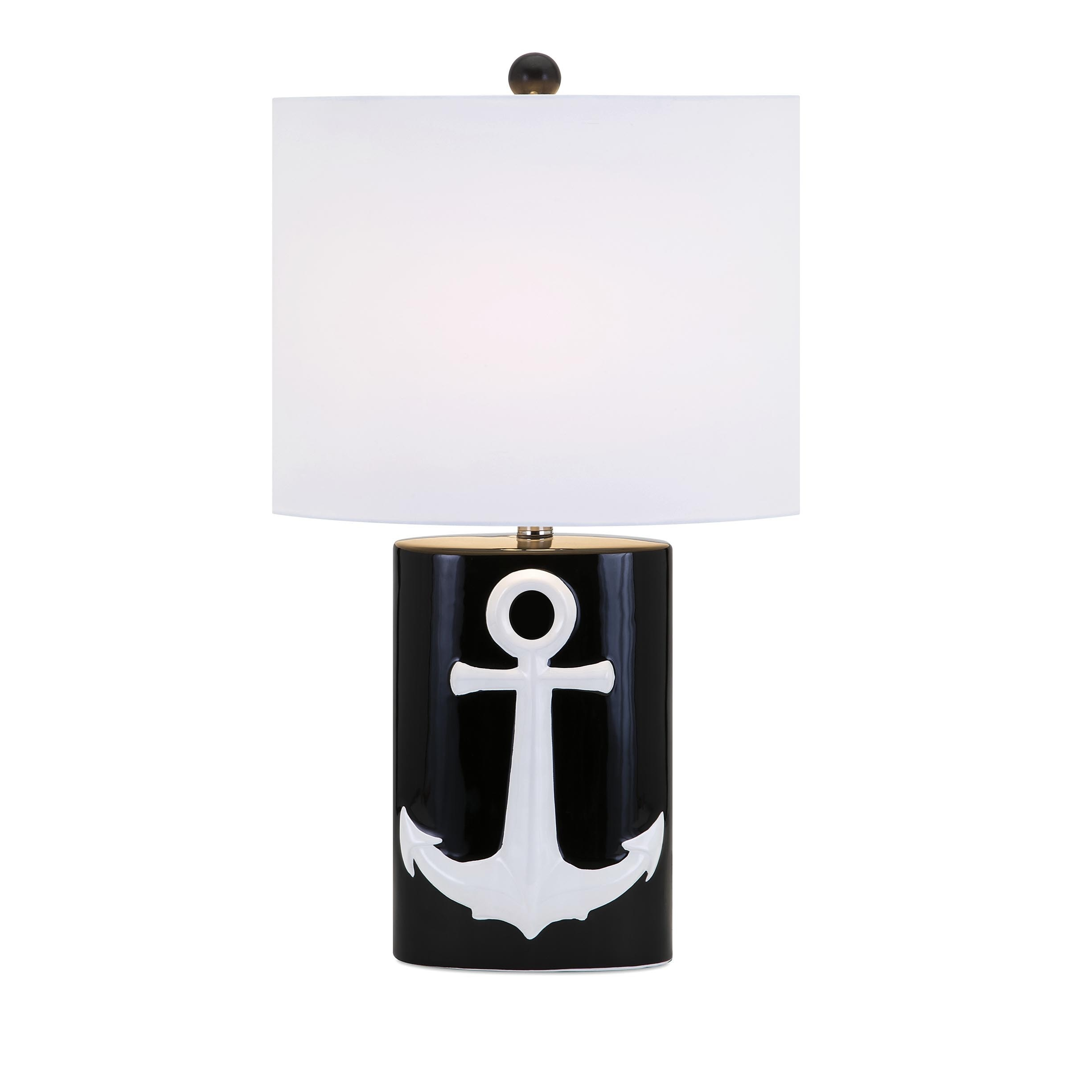 IMAX Anchor Away Ceramic Table Lamp (Table lamps), Black