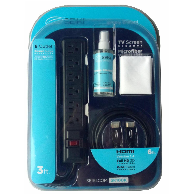SEIKI SK100K Kit withMicrofiber Cloth3oz.TV Cleaner3 in-6...