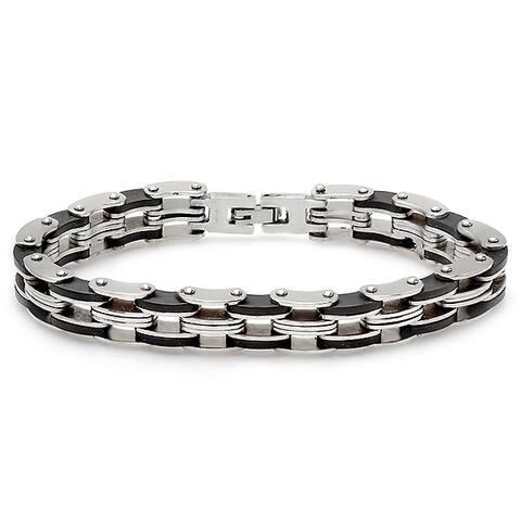 Steeltime Men's Stainless Steel Bicycle Chain Bracelet