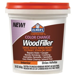 Elmer's E917 16 Oz White Carpenter's Color Change Wood Filler