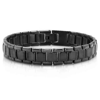 Men's Black Stainless Steel IP Bracelet