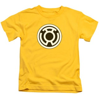 Green Lantern/Sinestro Corps Logo Short Sleeve Juvenile Graphic T-Shirt in Yellow