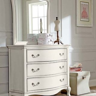 Kensington 3 Drawer Single Dresser w/ Mirror Antique White
