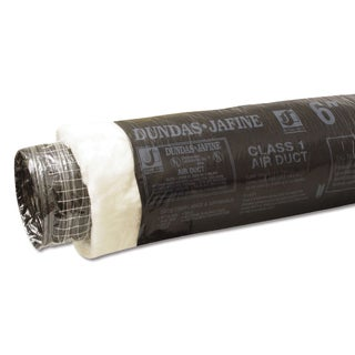 """Dundas Jafine BPC625 6"""" X 25' Black Flexible Insulated Ducting Jacket"""