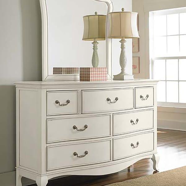 Shop Kensington Dresser With Mirror In Antique White