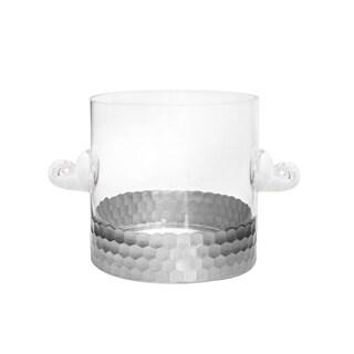 Fitz & Floyd Daphne Silver Glass Deep Ice Bucket