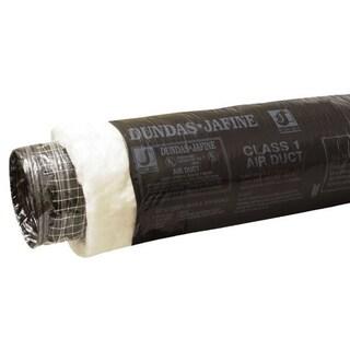 "Dundas Jafine BPC425 4"" X 25' Black Jacket Insulated Air Duct"