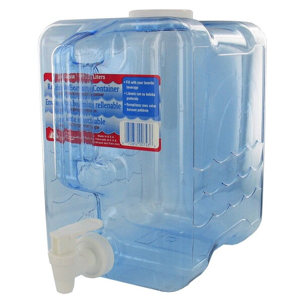 Arrow Plastic 00743 2 Gallon Beverage Dispenser Container