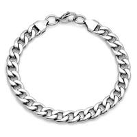 Steeltime Men's Stainless Steel Cuban Chain Bracelet