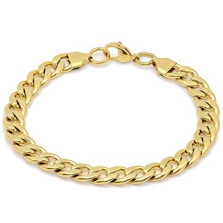18k Yellow Goldplated Stainless Steel Cuban Chain Bracelet