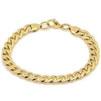 Steeltime Men's Gold Tone Cuban Chain Bracelet