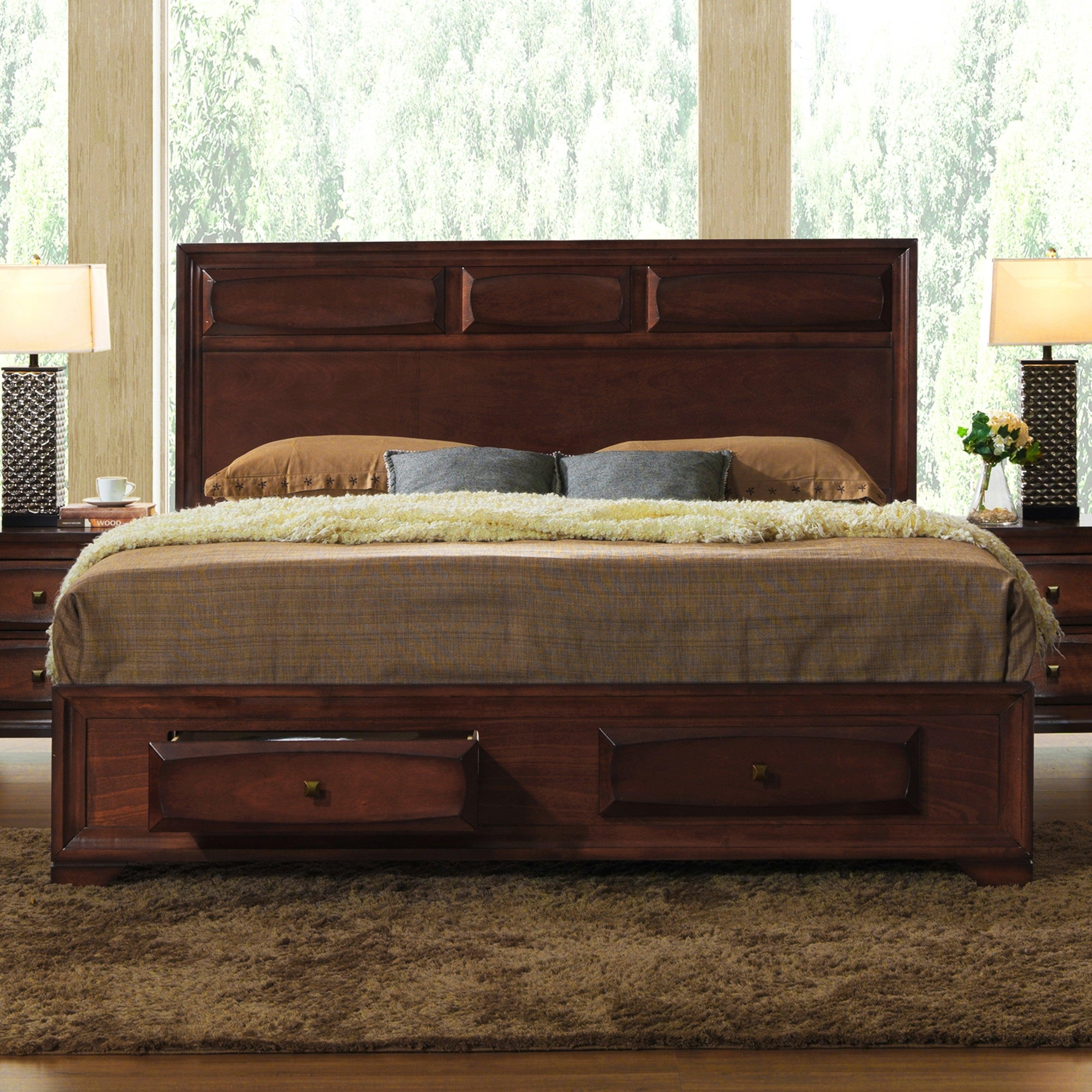 Shop Black Friday Deals On Oakland 139 Antique Oak King Size Storage Platform Bed Overstock 12546127