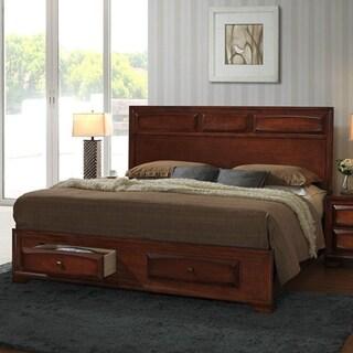 oakland 139 antique oak kingsize storage platform bed