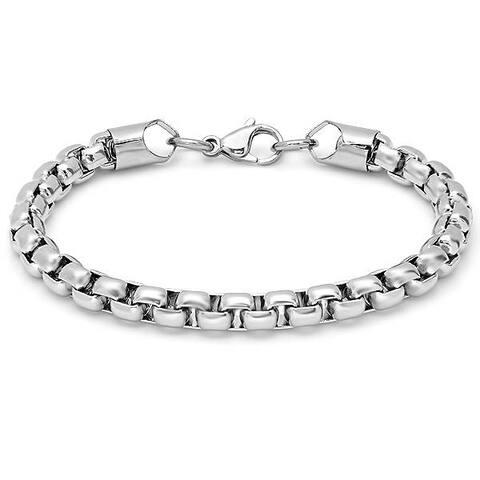 Men's Steeltime Stainless Steel Round Box Chain Bracelet