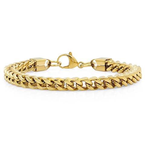 Steeltime Men's Stainless Steel Franco Chain Bracelet in 2 Colors