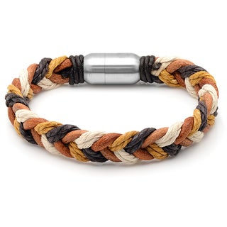 Multicolored Leather Intertwined Bracelet