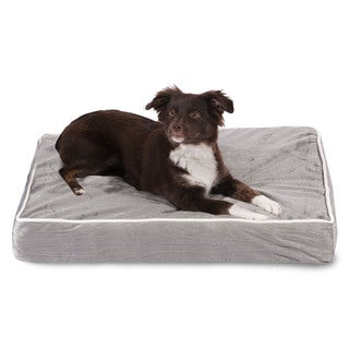 Majestic Pet Chenille Orthopedic Memory Foam Rectangle Dog Bed