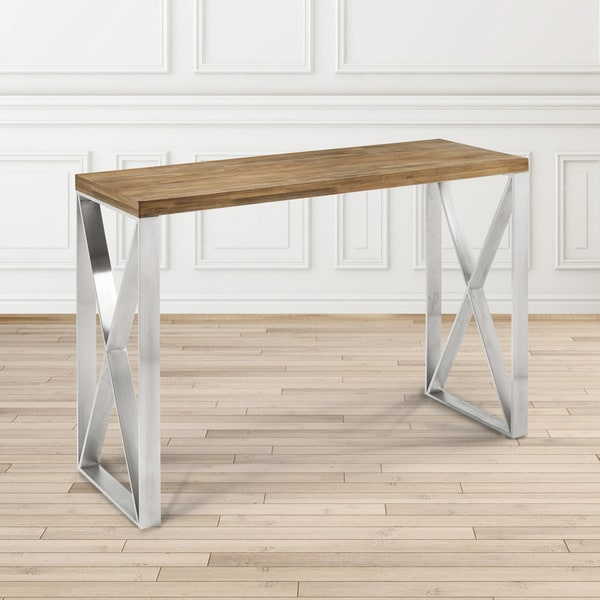 Shop Dynasty Industrial Wood And Metal Rectangle Console