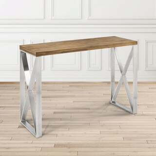 Dynasty Industrial Wood and Metal Rectangle Console Table