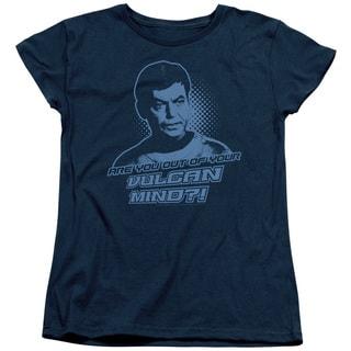 St Original/Vulcan Mind Short Sleeve Women's Tee in Navy