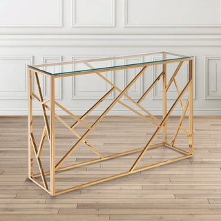 Calypso Gold Steel Console Table