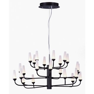 Maxim Lighting Candela Bronze Metal/Acrylic LED Multi-tier Chandelier