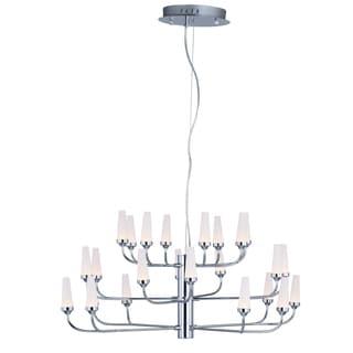 Maxim Lighting Candela Silvertone Multi-tier LED Chandelier