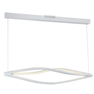 Maxim Lighting White Acrylic Cyclone LED Pendant
