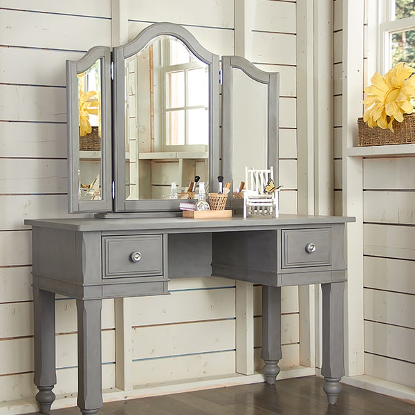 vanity with mirror and chair. Lake House Writing Desk With Vanity Mirror  amp Chair Stone Free