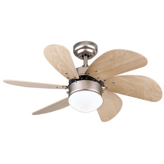Havenside Home Virginia 30-inch Brushed Aluminum Turbo Swirl 6-blade Indoor Ceiling Fan