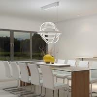 Gyro White Aluminum and Acrylic LED Single Pendant