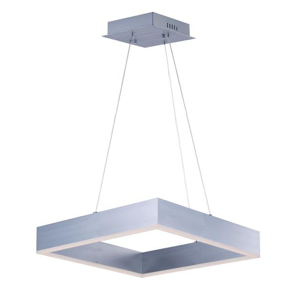 Metallika Silver Aluminum and Acrylic LED Single Pendant