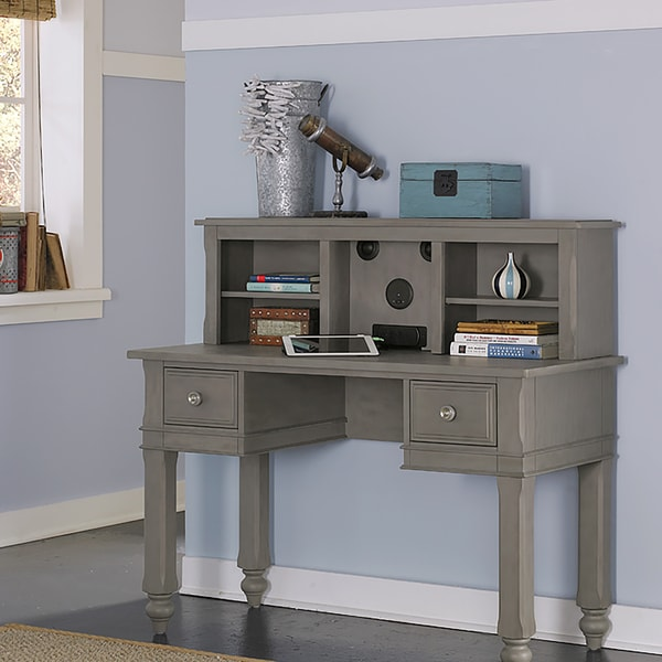 Shop Ne Kids Lake House Grey Wood Writing Desk With Hutch