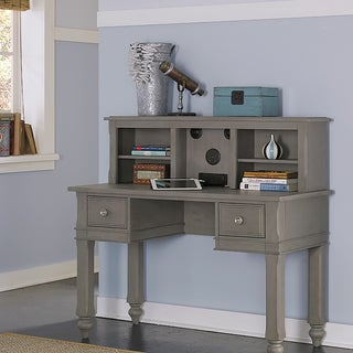 Lake House Wooden Writing Desk with Hutch