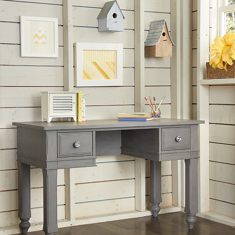 NE Kids Lake House Stone Grey Wood Writing Desk